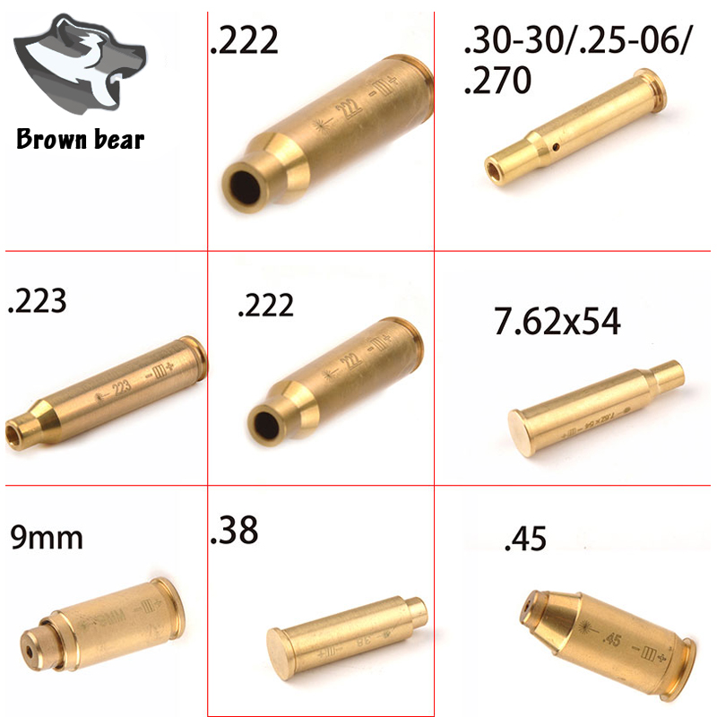 Hunting Shot Gun Red Dot Laser Bore Sighter Sighting Red Laser Boresighter Brass Material Cartridge