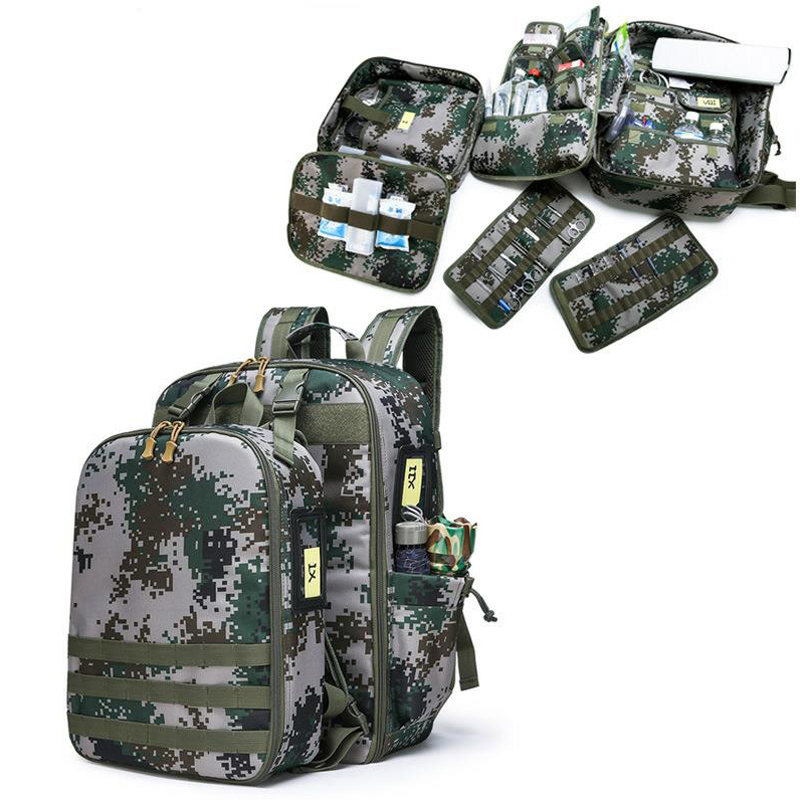 Outdoor First Aid Kit Large Capacity Sports Camouflage Nylon Waterproof Messenger Bag Family Travel Emergency Medical BagDJJB039