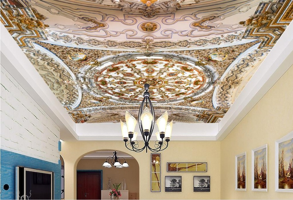 custom 3d ceiling murals wallpaper European carving 3d ceiling photo wallpapers for living room 3d stereoscopic ceiling custom photo wallpaper 3d stereoscopic sky ceiling cloud wallpapers for living room mural 3d wallpaper ceiling