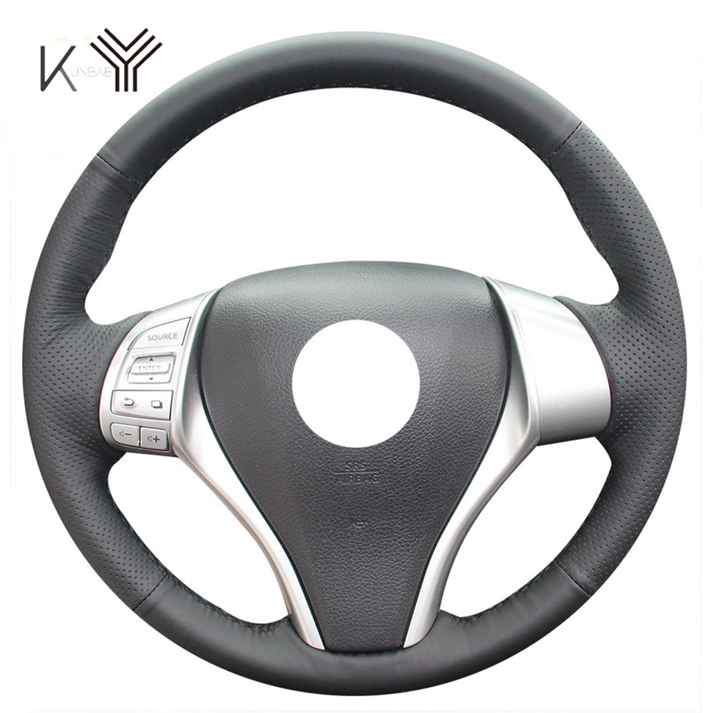 Leather DIY Car Steering Wheel Cover Case for Nissan Teana ...