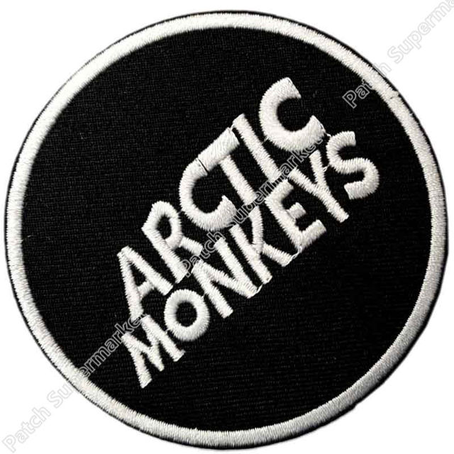 Arctic Monkeys Round Logo Music Band Iron Onsew On Patch Tshirt