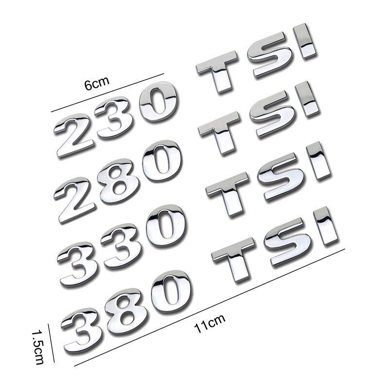 Aliexpress.com : Buy 230 280 330 380 TSI Car Sticker Rear