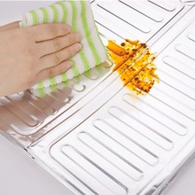 1 Pcs Cooking Frying Oil Splash Guard Aluminum Foil Gas Stove Shield Oil Splatter Screen Oil Removal Board