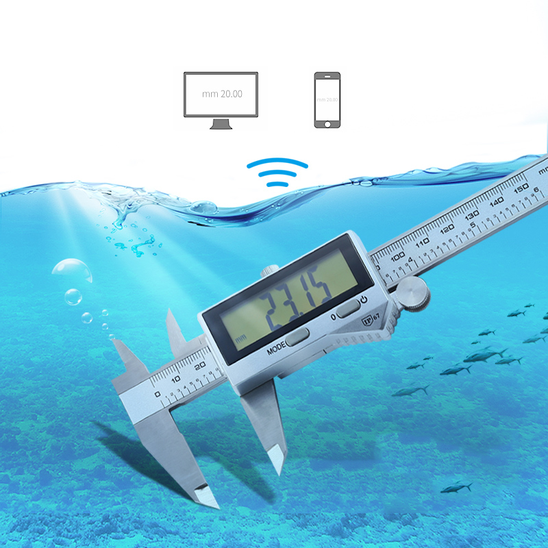 Bluetooth Waterproof High Precision Electronic Digital Caliper Stainless Steel Vernier Caliper 0-150-200-300mm ruler