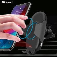 10 W Qi Draadloze Oplader Auto Telefoon Houder voor iPhone 8 X XR XS Infrarood Snelle Draadloze Opladen Autolader voor Samsung S9 S8 S10