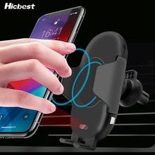 10 W Qi bezprzewodowa ładowarka samochodowa uchwyt telefonu dla iPhone 8 X XR XS na podczerwień szybka bezprzewodowa ładowarka samochodowa ładowarka do Samsunga s9 S8 S10