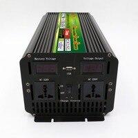 Frete grátis 12 v 220 v 3000watt 6000 w inversor de potência interruptor automático inversor com carregador