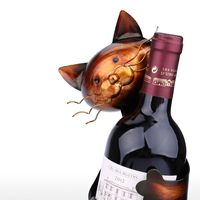 TOOARTS Cat Wine Rack Wine Holder Shelf Metal Practical Sculpture Wine stand Home Decoration Interior Crafts Christmas Gift 1