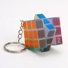 3x3x3 Мини карманный брелок Кубик Рубика кулон головоломка на скорость волшебный куб светится в темноте головоломка рюкзак для игрушек автомобильный декор кулон