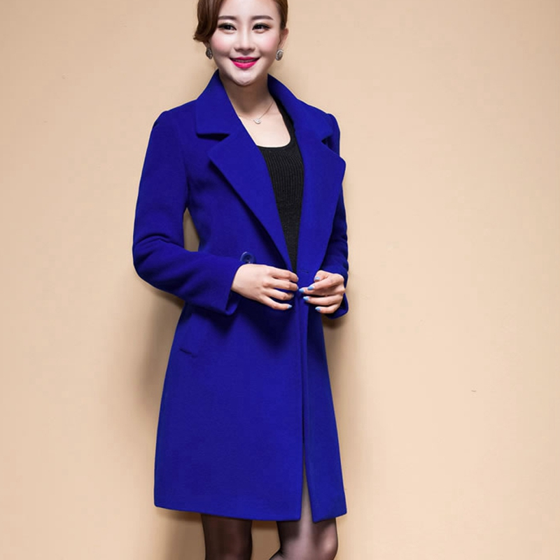 Wool Coat Female Fashion Women Woolen Coats High-end Elegant Long Slim Winter Jacket Royal Coats&Jackets Plus Size Femininos 4XL 1