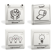 % DIY Funny toilet shower light Comics Side Light Side Switch Wall Stickers Home Decoration Bedroom kids room Parlor Decoration