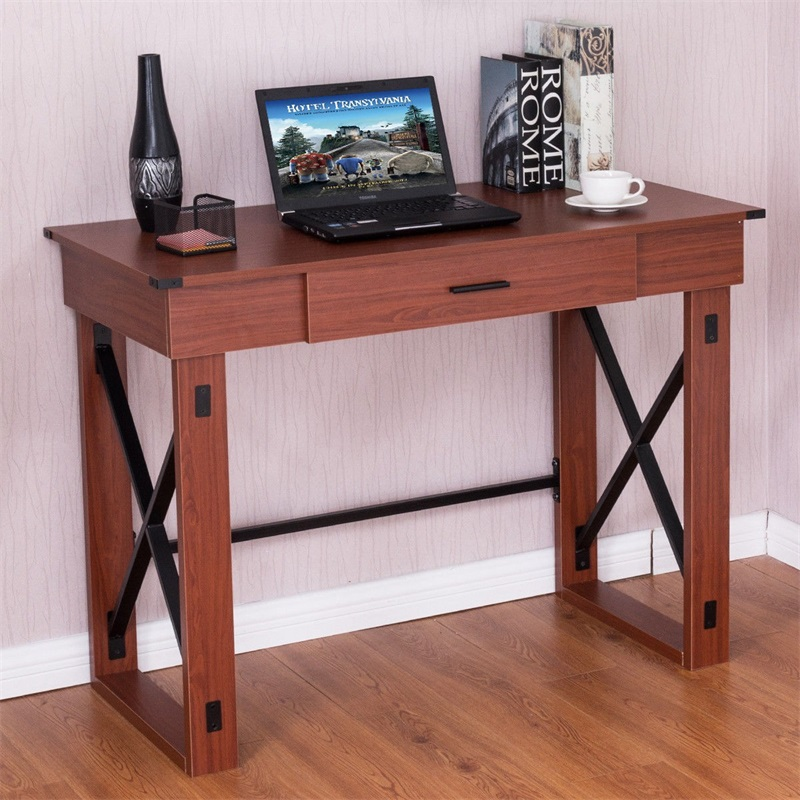 Home Writing Study Lift Top Solid Wood Adjustable Computer Desk Stylish Sturdy Steel Construction Wood Top Tables HW56039