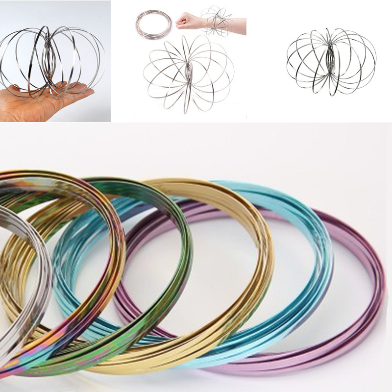 5 colors Flow Rings Toroflux Torofluxus Flowtoy Amazing Magic rings Kinetic Spring Toys Outdoor Game Intelligent Toy Arm warmers