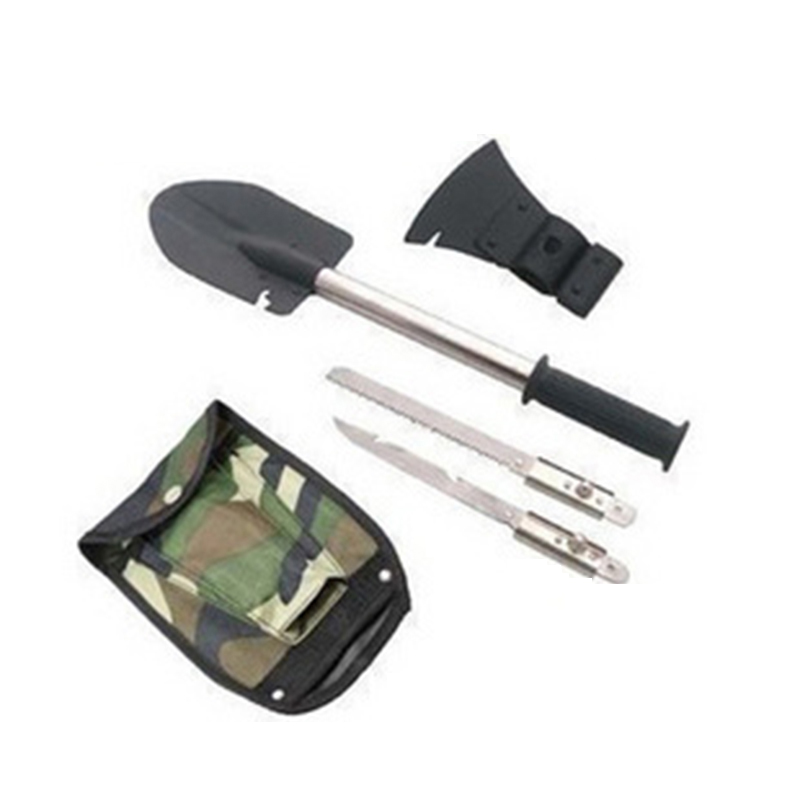 Multifunctional Fishing Tools Portable Folding Shovel Survival Spade Emergency Trowel Garden Camping Cleaning Tool Accessories multifunctional military folding spade and shovel