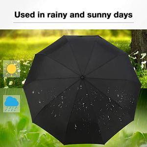 Image 5 - Yesello מתקפל הפוך מטריית גשם נשים גברים גדול Windproof שחור ציפוי שמש מטריות מתנות שמשייה אוטומטית BusinessUmbrla