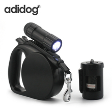 Hot Sale Pet Dog Leash LED Light & Clean-up Bag Retractable Leash For Small Medium Dogs Collar Products Harness Strong 20KG 4.5M