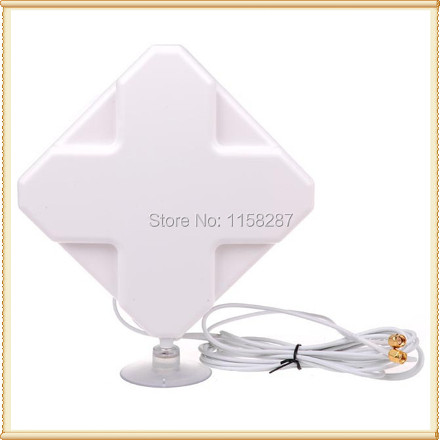 35dBi  Double SMA Male Connector 4g Antenna ForWirelessLTE 4G Router HUAWEI B593 B525  LTE Router