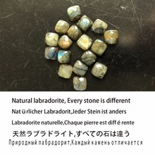 Authentic Natural Gemstone Square Blue Labradorite Stone Solid 925 Sterling Silver