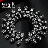 Beier 316L Stainless Steel Bracelet Punk Skull Bracelet For Man Fashion Jewelry BC8 008