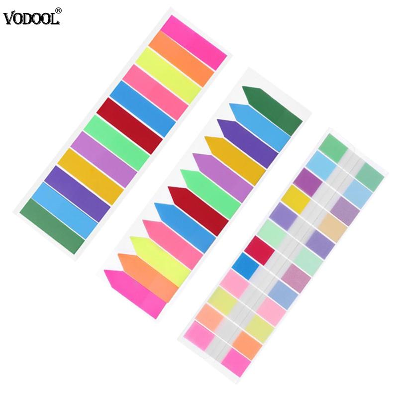 240 Sheets Fluorescence Self Adhesive Memo Pad Sticky Notes Bookmark Marker Memo Sticker Paper Student Office Supplies