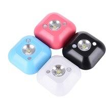 Mini Wireless Night Light LED Infrared Motion Activated Sensor Lights Battery Powered Wall Emergency Wardrobe Cabinet Night Lamp