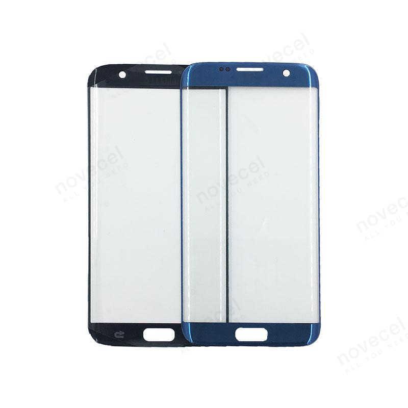 A + استبدال الخارجي زجاج عدسة ل samsung S7 حافة G935 s7 حافة g935 LCD تعمل باللمس الجبهة الزجاج الخارجي شاشة باللمس على حامل