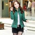 Senhoras Plus Size Cotton Zipper Casacos Mulheres Casaco 2015 Nova Moda Inverno Quente Para Baixo Casaco Jaqueta Chaquetas De Pluma Mujer