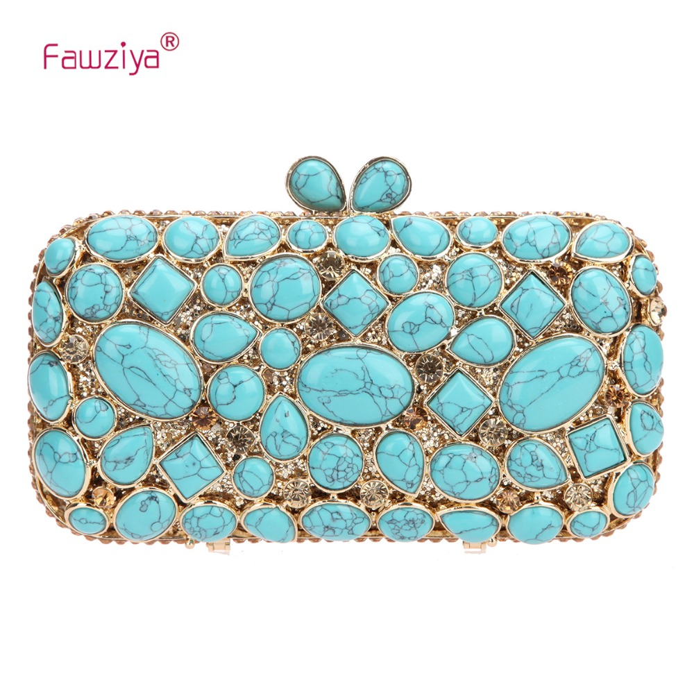 Fawziya Man Made Turquoise Wedding Clutch Bags And Purses For Women Handbags fawziya fringe bag luxury rhinestone grape purses and handbags for womens clutch purse