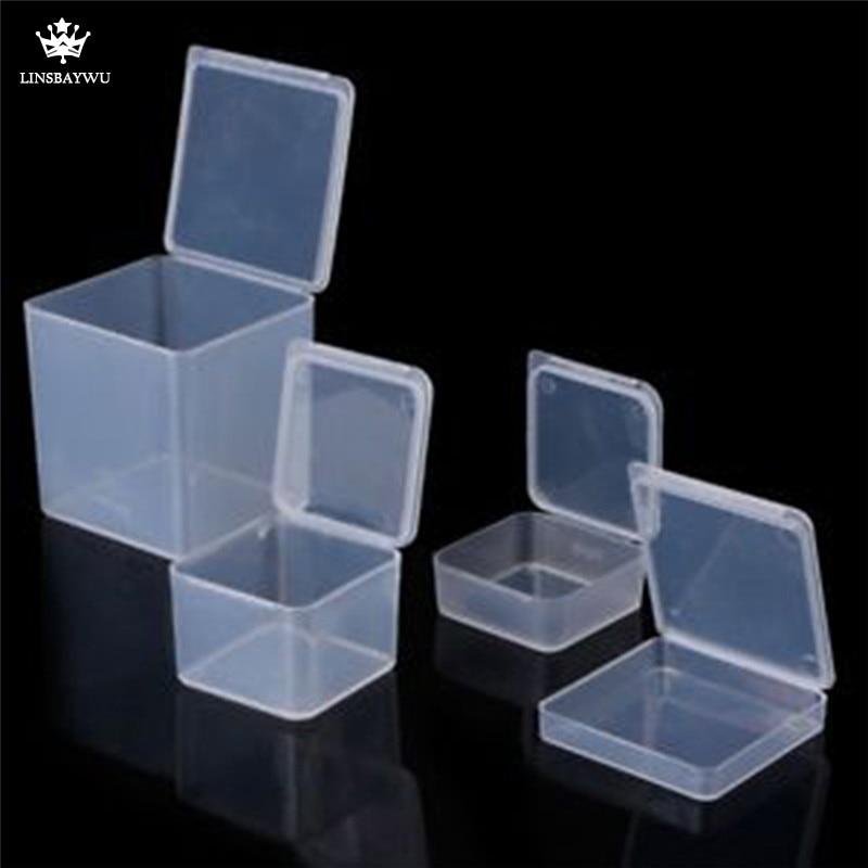 Multi Size Square Clear Plastic Jewelry Storage Boxes