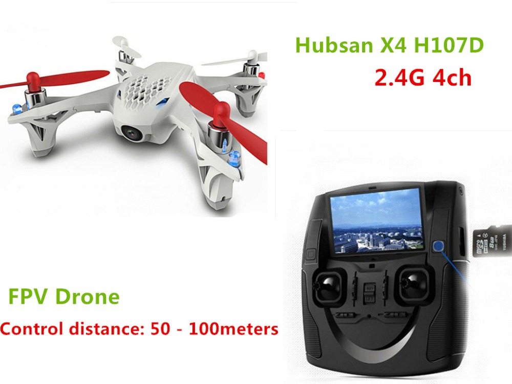 Hubsan x4 H107D Remote Control Helicopter LED Lights 0.3MP HD Camera 6 Axis Gyro Quadcopter 4 Channels USB Plug Brush Motor Dron big s900 shaft rotor professional hd remote control helicopter