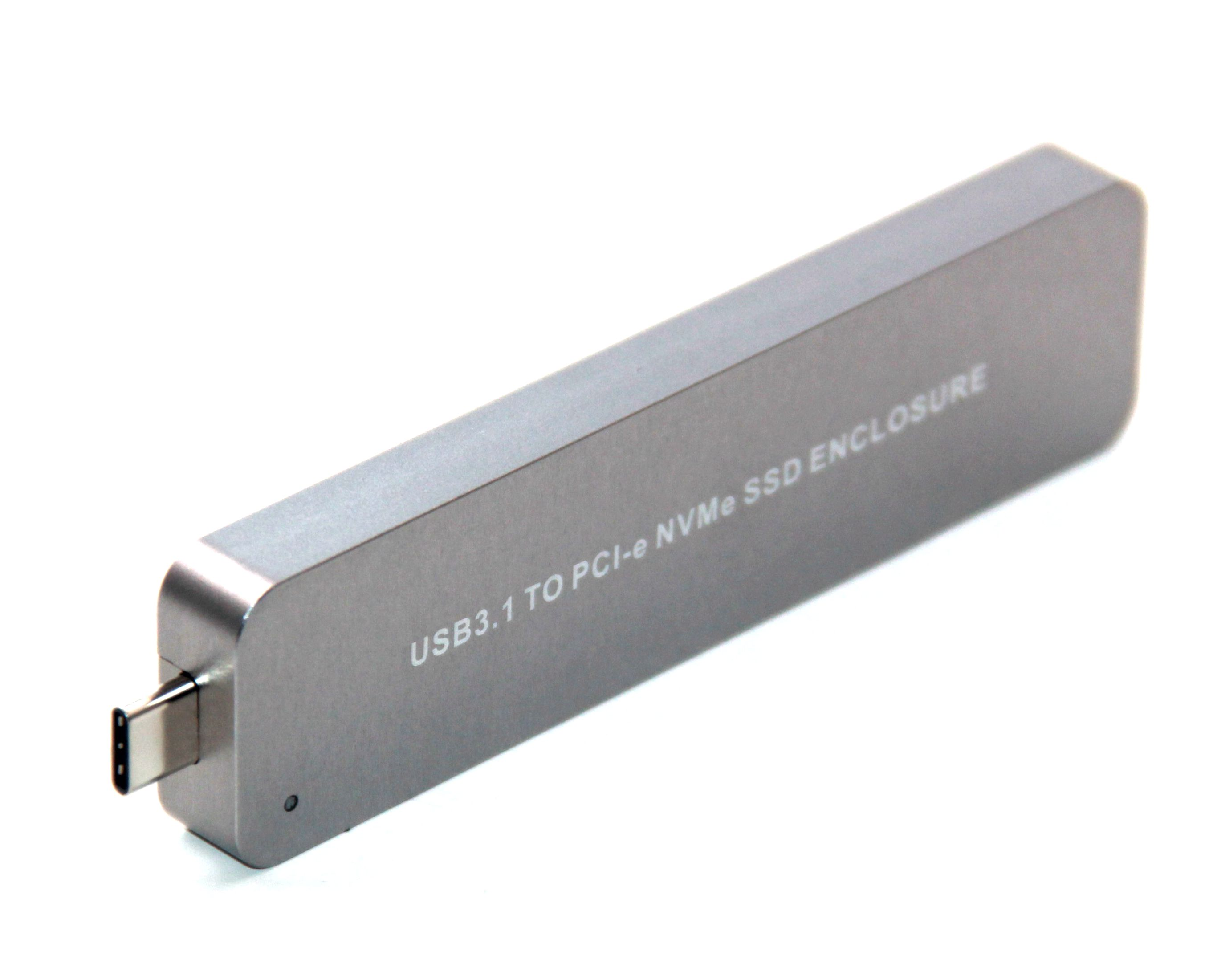 L Nvme To Usb Adapter, 10 Gbps Usb3.1 Gen 2 M.2 Pcie Ssd To TYPE-C Card , Usb To M2 Solid State Drive (Key M) Fixed Type
