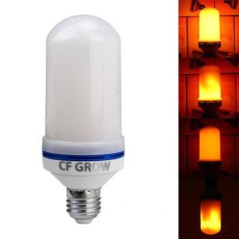 E26 e27 led 불꽃 효과 화재 전구 smd2835 깜박 거리는 에뮬레이션 4 모드 led 불꽃 램프 1200 k 1400 k ac85v 265 v