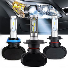 Fuxuan Auto Led H7 Headlight H13 9005 HB3 9006 HB4 Led H4 Car Bulb 6500K CSP Chip 50W 8000lm Fan-less H8 H11 Lamp All-in-one цена и фото