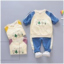 hot deal buy zwxlhh 2019 spring new baby boy girls clothing sets children casual clothes suits  infant t shirt +pants toddler kids costume
