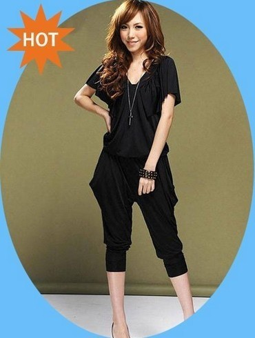 Best selling!Free Shipping Lady's Halter Design Blouse Women's jumpsuits overall Harem pants v-neck