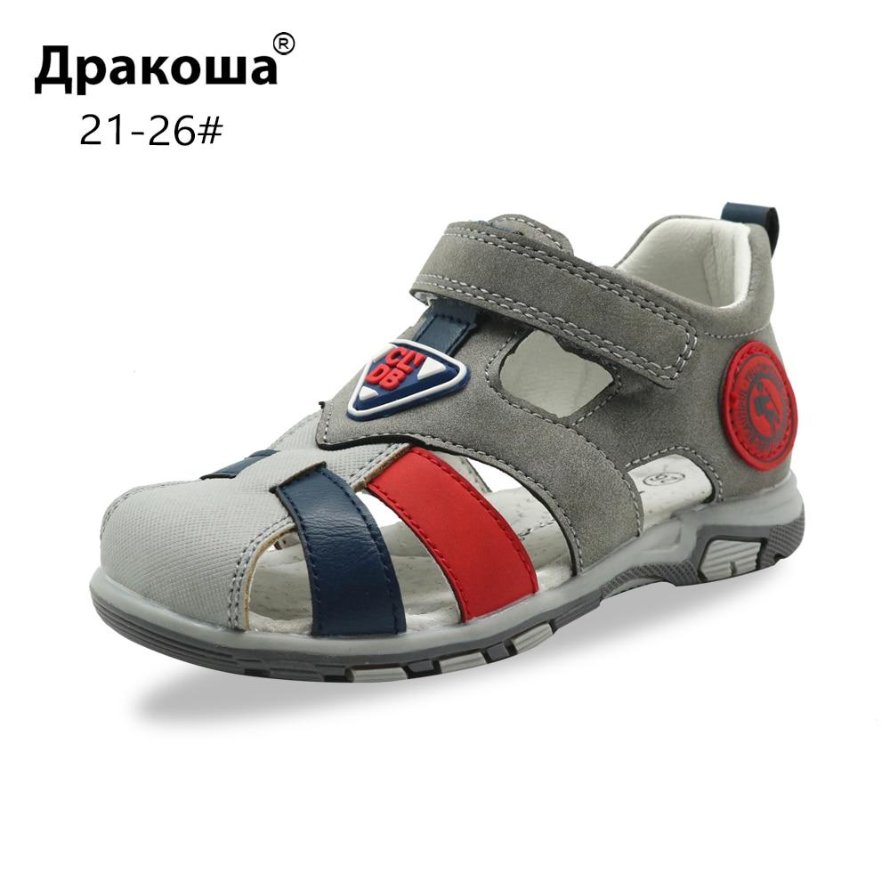 Apakowa Kids Boys Summer Lightweight Athletic Sport Sandals Toddler//Little Kid