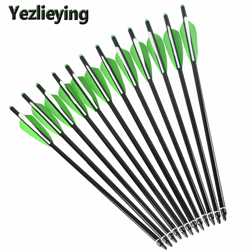 6/12 / 24pc20 inch high-quality aluminum arrows replaceable arrow composite / anti-hunting archery shooting target outdoor sport ...