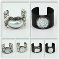 New Product Women Vintage Jewelry Genius Pearl Fish Leather Cuff Bracelets with Rhinestone Crystal Pearl Pattern Bangle