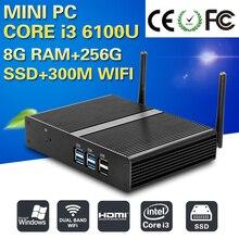XCY Mini pc 6 Поколения Core i3 6100U 8 Г RAM 128 Г SSD WI-FI 2.3 ГГц Мини-Компьютер 4 К Gaming PC Ультра Nettop HTPC Tablet pc