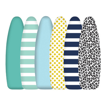 Home Textile Printed Cotton Padded Ironing Board Cover Heavy Duty Heat Reflective Scorch Resistant 40 x 130cm