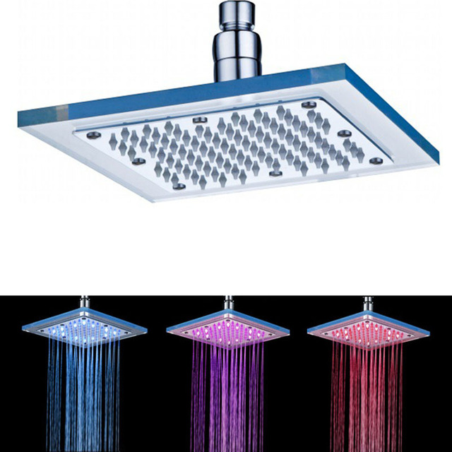 platz led duschkopf wassertemperatur sensing 3 color led licht ndern decke dusche sprinkler in. Black Bedroom Furniture Sets. Home Design Ideas