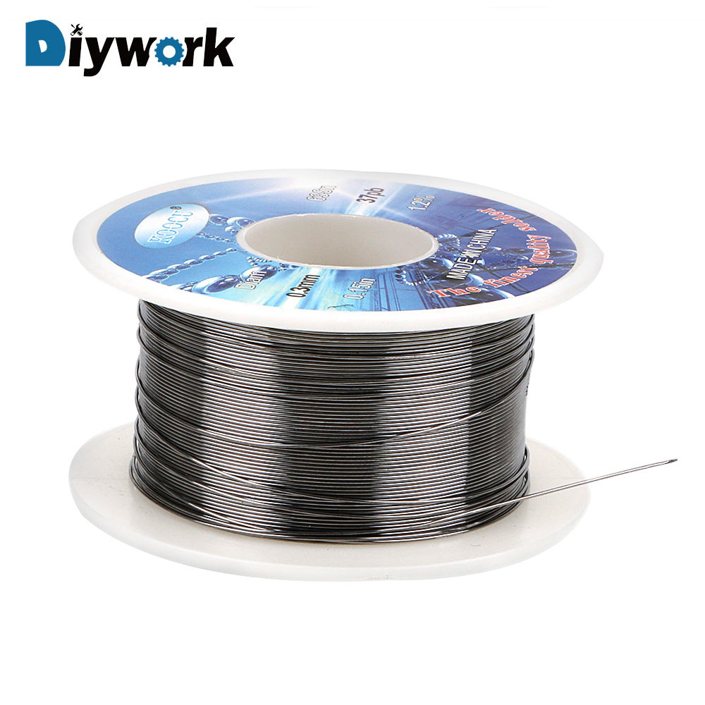DIYWORK 63% Tin 37% Lead Long Wire Reel Soldering Supplies 0.3mm Flux Core Hot Solid Solder Welding Wires