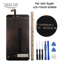 Umi Super Euro LCD Display And Touch Screen Original Screen Digitizer Assembly Replacement Tools Adhesive Tempered