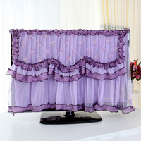 New Lace Hanging TV Cover 52 Inch Wall Mounted LCD Flower Dustproof Television Covers Hihg Quality