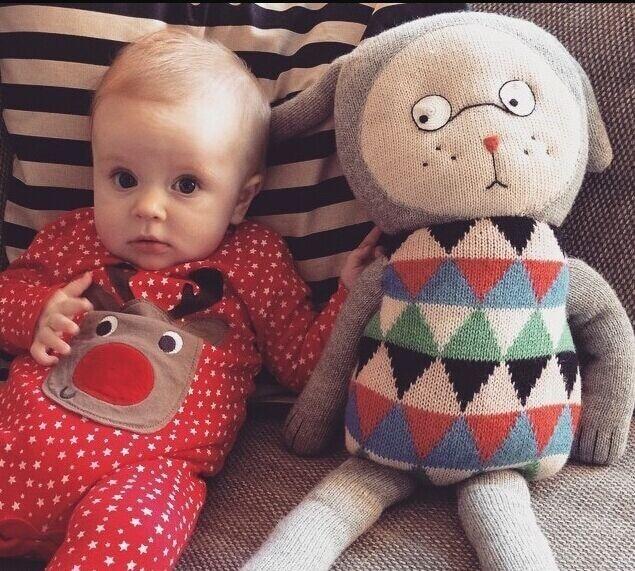 Denmark Lucky Boy Sunday Hand Knit Soft Cute Fancy Stuffed Animals