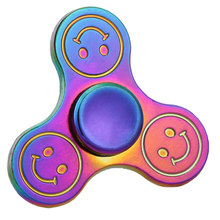 สีรุ้งมือของเล่นอยู่ไม่สุขปินเนอร์นิ้วปินเนอร์โลหะSpinerของเล่นTri-s pinner Gyroความเครียดบรรเทาของเล่น