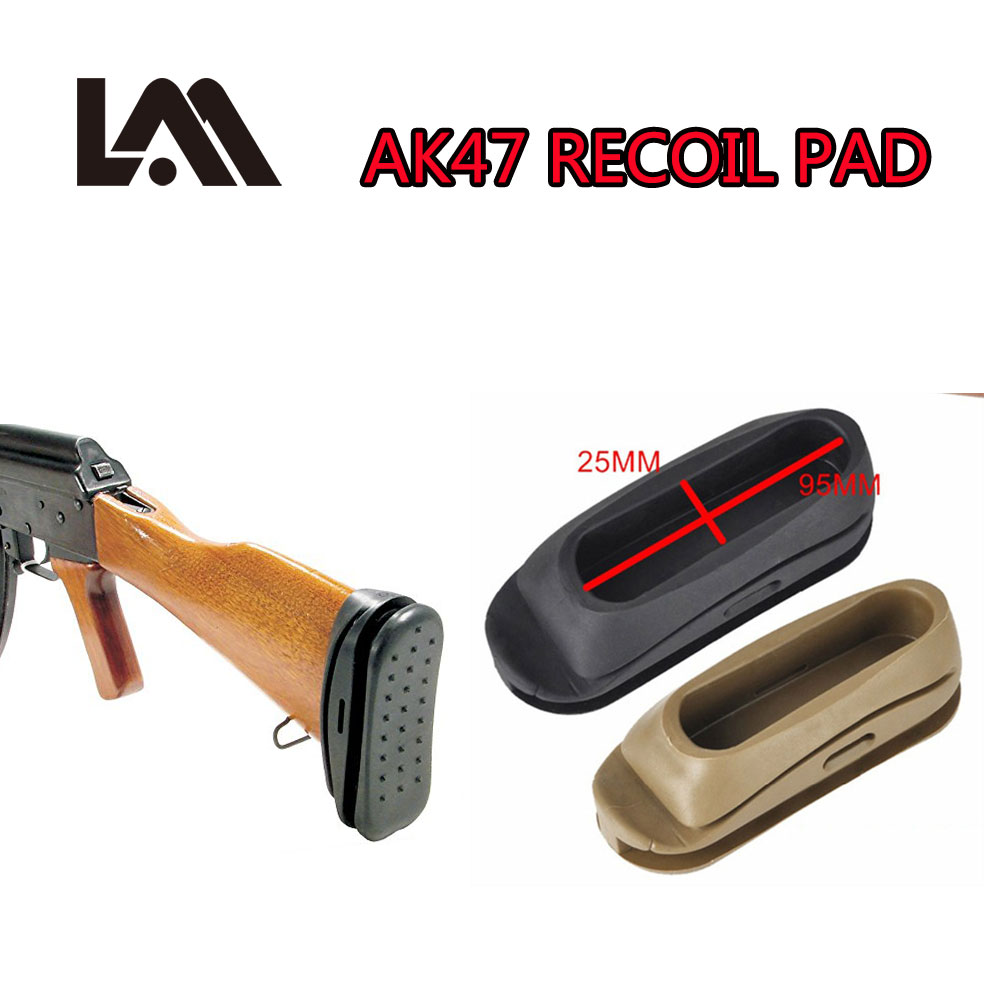 Hunting Hunting Gun Accessories Rapture Lambul Tactical Ak47 Recoil Pad Stock Butt Shockproof Silicone Rubber For Softair Gun Accessories 47 Recoil Pad Free Shipping Beneficial To The Sperm