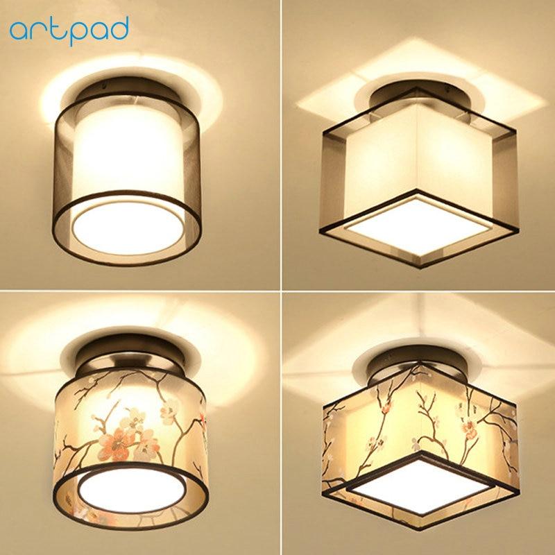 Bozz'art Style Traditionnel Chinois Plafonnier Lampe AC110V-220V Couloir Chambre Étude Salon Hôtel Lumières Décoratives