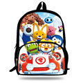 16-inch The Little Penguin Pororo School Bag Child Backpack For Teenagers Cartoon Mochila Pororo Backpack Kids Boys and Girls