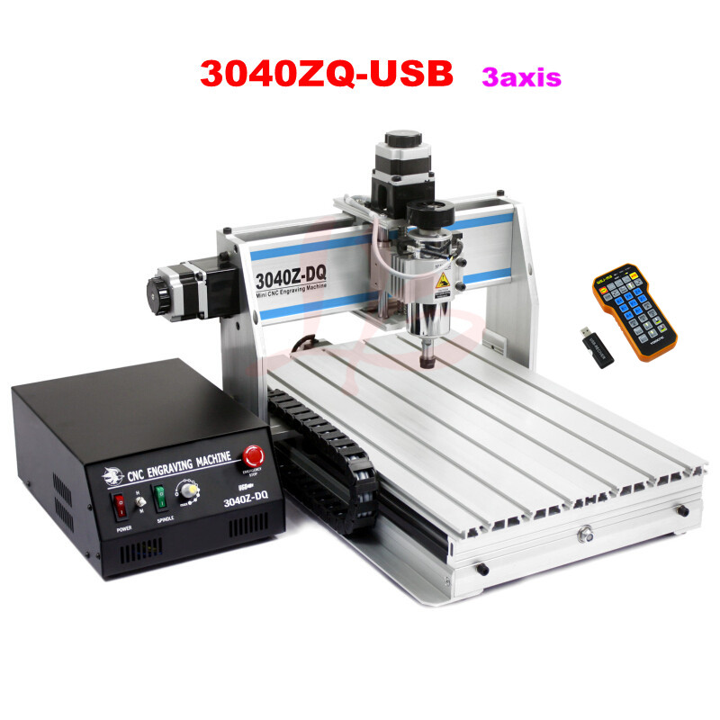 3040ZQ-USB 3axis CNC Router machine with mach3 remote control Engraving Drilling and Milling Machine,Free tax to Russia cnc milling machine ethernet mach3 interface board 6 axis control